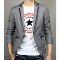 Jual makin modis Blazer GGS Grey Line Black Premium, Jas Blazer Aliyando Ab Murah