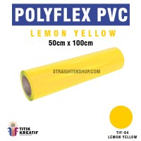 Polyflex PVC Korea Kuning Lemon / Lemon Yellow murah