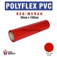 Polyflex PVC Korea Merah / Red murah