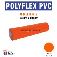 Polyflex PVC Korea Oren atau Orange murah