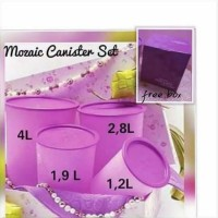 Tupperware Mosaic Canister Set Purple