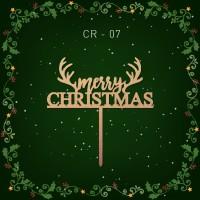 Jual CR-07 / TOPPER NATAL / CHRISTMAS CAKE TOPPER / HIASAN KUE / CAEK TOPPE Murah