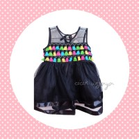 Jual Rainbow Dress Tassel Anak Hitam Murah