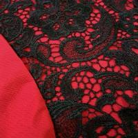 Jual Red Brocade Bodycon dress merah natal baju Murah