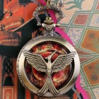 Jual Termurah Pocket Watch atau Kalung Jam Desain Hunger Games Mockingjay B Murah