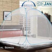 Kelambu Javan Bed Canopy - Natural Queen ukuran 160x200cm