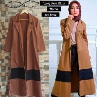 Jual Long Sleeve Mocca Blazer Fleece  Murah