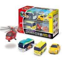 Iconix-Tayo the Little Bus Mini Toy #4 - Air Peanut Kinder Shine -4pcs