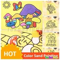 Jual (Diskon) Mainan Lukisan Pasir Warna 16 x 12 cm Mainan Edukasi sand Murah