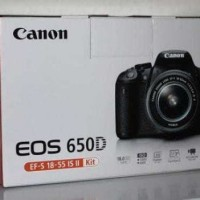 Jual kamera canon 650d lensa 18-135mm.,, Murah