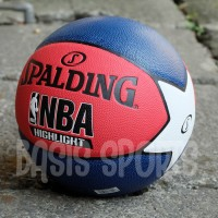 IMPORT ASLI - BOLA BASKET SPALDING NBA HIGHLIGHT COMPOSITE MARINE RED