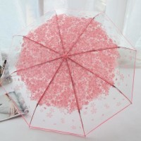 Jual Payung lipat transparan payung jepang korea payung bening murah HPR083 Murah