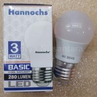 Lampu Led Ledbulb Basic Hannochs 3w 3 Watt Terang Bergaransi
