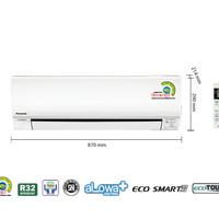 PANASONIC AC 1 PK KN9SKJ lowwatt   tanpa PASANG   PIPA 5M
