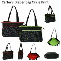 carters diaper bag circle print