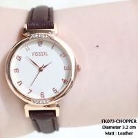 Jam tangan grosir fossil wanita leather kulit bludru termurah