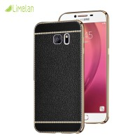 Samsung C9PRO / C9 pro 2017 luxury Leather Case like Litchir soft case