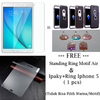 Tempered Glass Std Samsung Tab A-8 Inc/T350+Free Ring+Ipaky Ring Iph 5