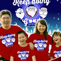 Jual Beli 10 Free 1 Kaos Natal Dewasa S-XL -  santa keep doing good (rp @) Murah