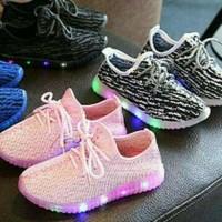 Jual Sepatu Led Import 26-30 Sepatu Anak Import Led Tali /ADID*S BELUGA L   Murah