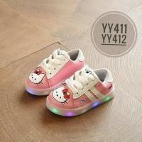 Jual Sepatu kets LED HK Pink 26-30 Shoes Led Hello Kitty Tali   Murah