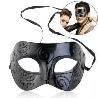 Topeng Pesta Party Mask Topeng Pria Halloween Topeng Wanita - Hitam