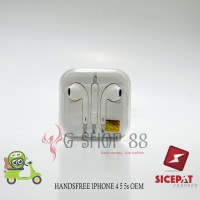 HANDSFREE IPHONE 4 S 5 S 6 S PLUS + HF HEADSET EARPHONE ORI 100% OEM