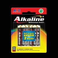 BATERAI ABC ALKALINE AA/A2- 6Pcs | BATTERY ABC ALKALINE AA-6Pcs