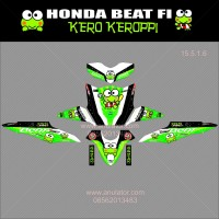 paling lengkap Sticker striping motor stiker Honda Beat FI Keroppi SP