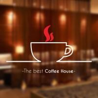 Cutting Sticker Custom Kafe Kopi Coffee Stiker Kaca Dinding Rumah Kafe