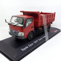Diecast Miniatur Truk Toyota DYNA 130HT Dump Truck Original Dealer Box
