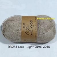 Jual DROPS lace cokelat muda - benang rajut import impor alpaka silk sutera Murah