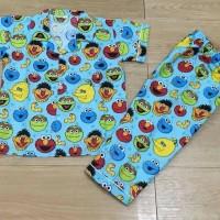 Jual Baju tidur anak piyama anak motif Elmo blue Murah