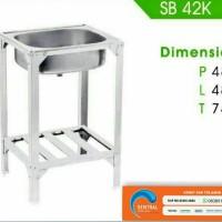 Jual Bak Cuci Piring Kaki / Kitchen Sink Stainless Steel / Royal SB 42 PK Murah