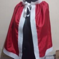 aksesories natal: christmas cloak jubah natal Christmas merah 53cm