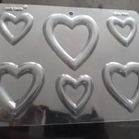 Jual cetakan fondant / cetakan coklat / puding hiasan pagar love hati Murah