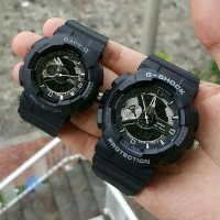Jam tangan sport Couple, G-shock double time, 100% real pict, kw super