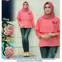Blouse Simpel Fashion Wanita Muslimah Terkini