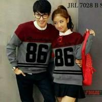 Kaos Couple / Baju Couple / Sweater Couple Lengan Panjang Murah 86