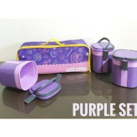 Canister Set Toples KEDAP UDARA LOCK KLIK ungu purple hijau orange