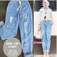 Harga celana ripped jogger jeans denim jins wanita biru muda levis jumbo | Pembandingharga.com