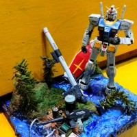 DIORAMA CUSTOM untuk Gundam SHF Figma Hot Toys Hasbro Action figure