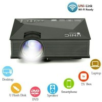 Jual Proyektor UNIC UC46 portable mini wifi led projector Murah