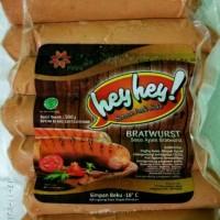 Hey - Hey Big Sosis Jumbo Ayam Bratwurst kemasan 500gr isi 7pcs