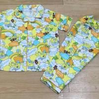 Jual Baju tidur anak piyama anak motif Sponbob yellow Murah