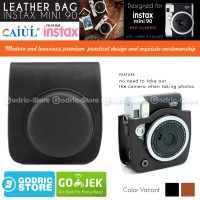 Fujifilm Leather Bag Polaroid Instax Mini 90 Neo Classic Tas Case V2