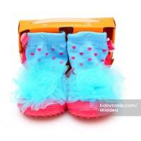 Jual  Skidders Rubber Flexible Shoes  Blue Flower T2 Murah