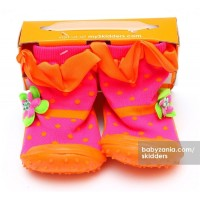 Jual  Skidders Rubber Flexible Shoes  Orange Dots T2909 Murah