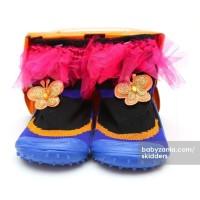 Jual  Skidders Rubber Flexible Shoes  Black Butterfly T2909 Murah