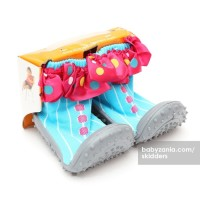 Jual  Skidders Rubber Flexible Shoes  Blue with Pink Polkadot T2909 Murah